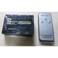 RIENT HDMI 4K Switch HS0301H - Переходник ORIENT HDMI 4K Switch HS0301H, 3->1, HDMI 1.4/3D, UHDTV 4K(3840x2160)/HDTV1080p/1080i/720p, HDCP1.2, встроенный ИК приемник, пульт ДУ, питание от HDMI, пл.корпус (30372)